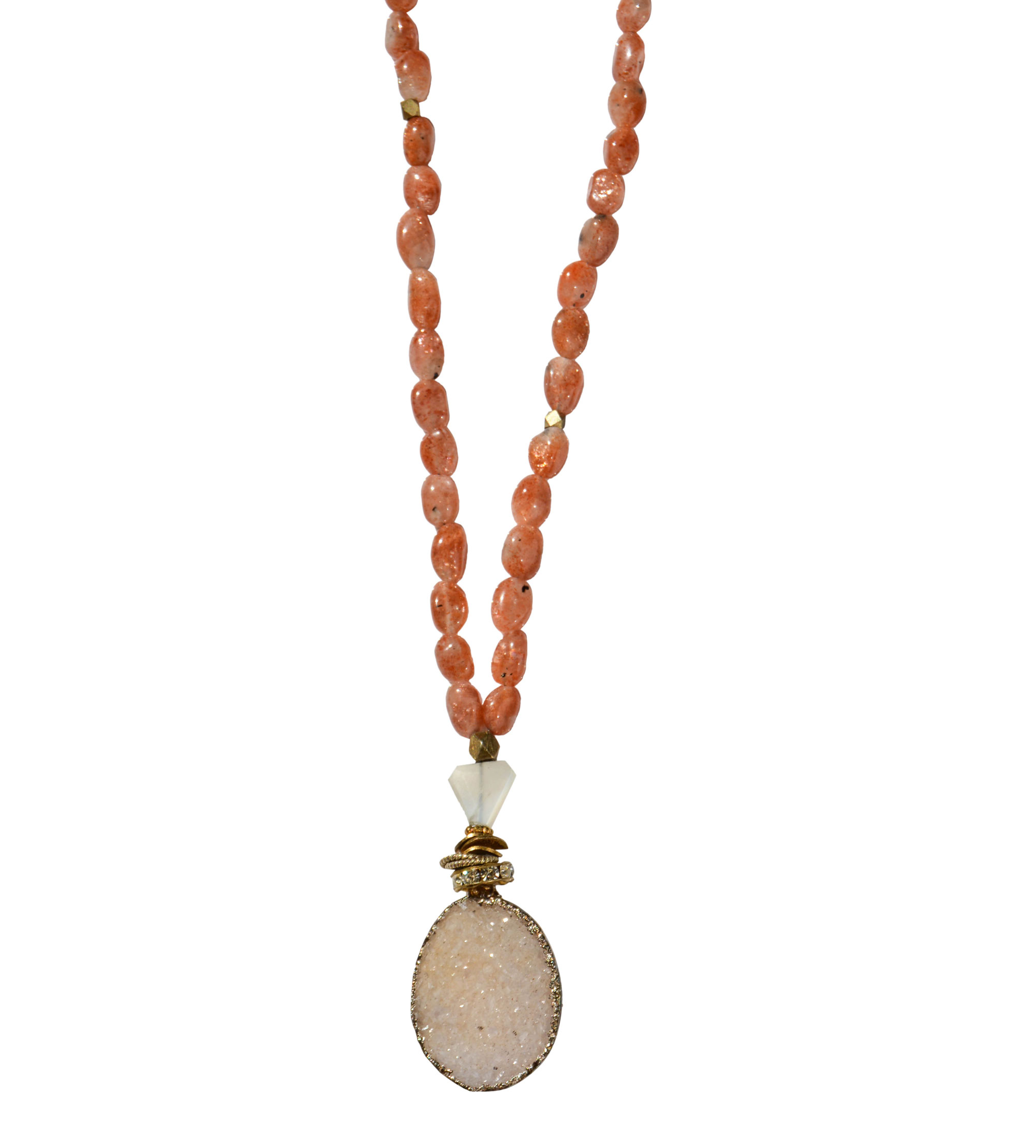 pendant and necklace sunstone p yoni metallic with kyanite il copper coppery orange polymer fullxfull sun goddess